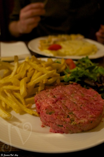 My steak tartare was superb!